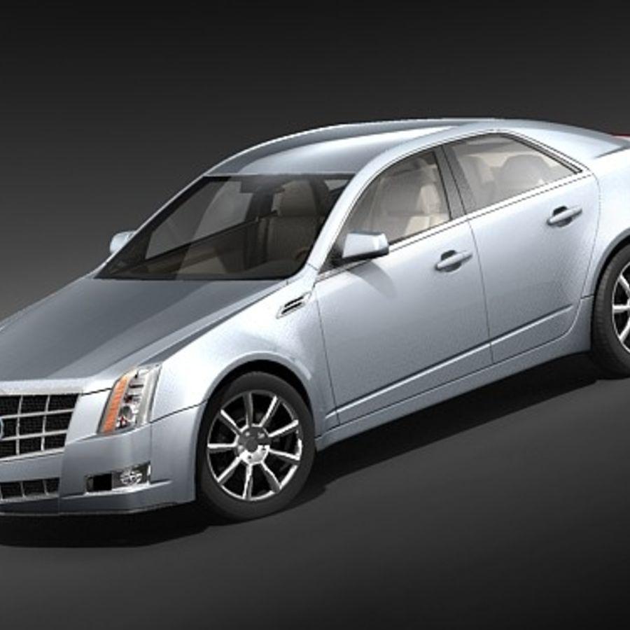 Cadillac CTS 2009 royalty-free 3d model - Preview no. 1