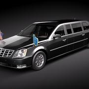 Cadillac DTS Armored Presidental Limousine 3d model
