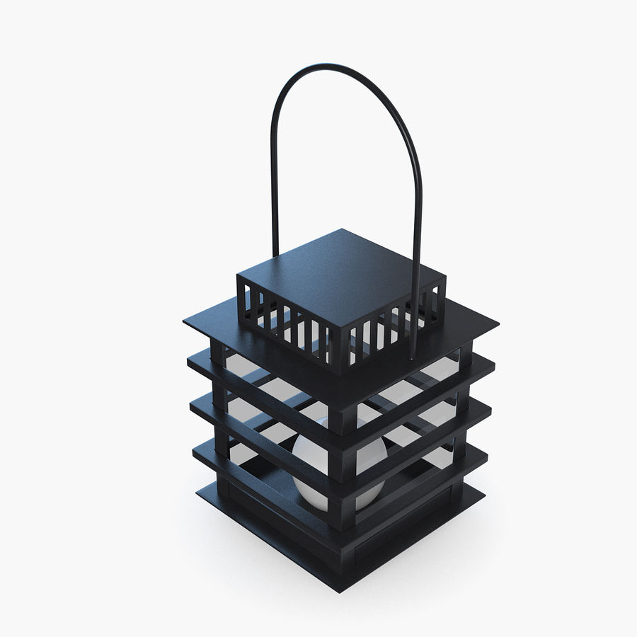 Candle Lantern v3 royalty-free 3d model - Preview no. 5