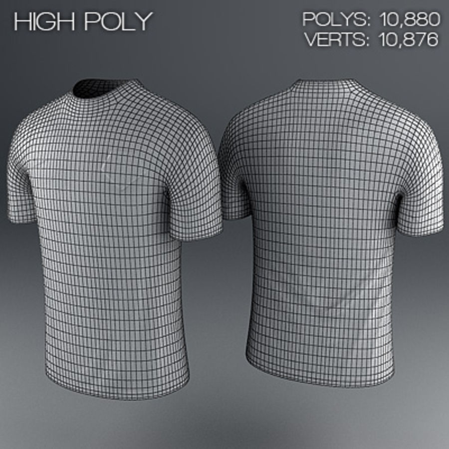 Nederland shirt - voetbaltrui royalty-free 3d model - Preview no. 6