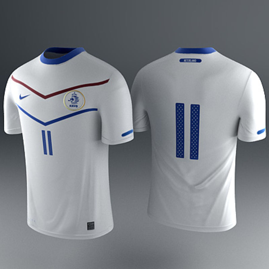Nederland shirt - voetbaltrui royalty-free 3d model - Preview no. 3