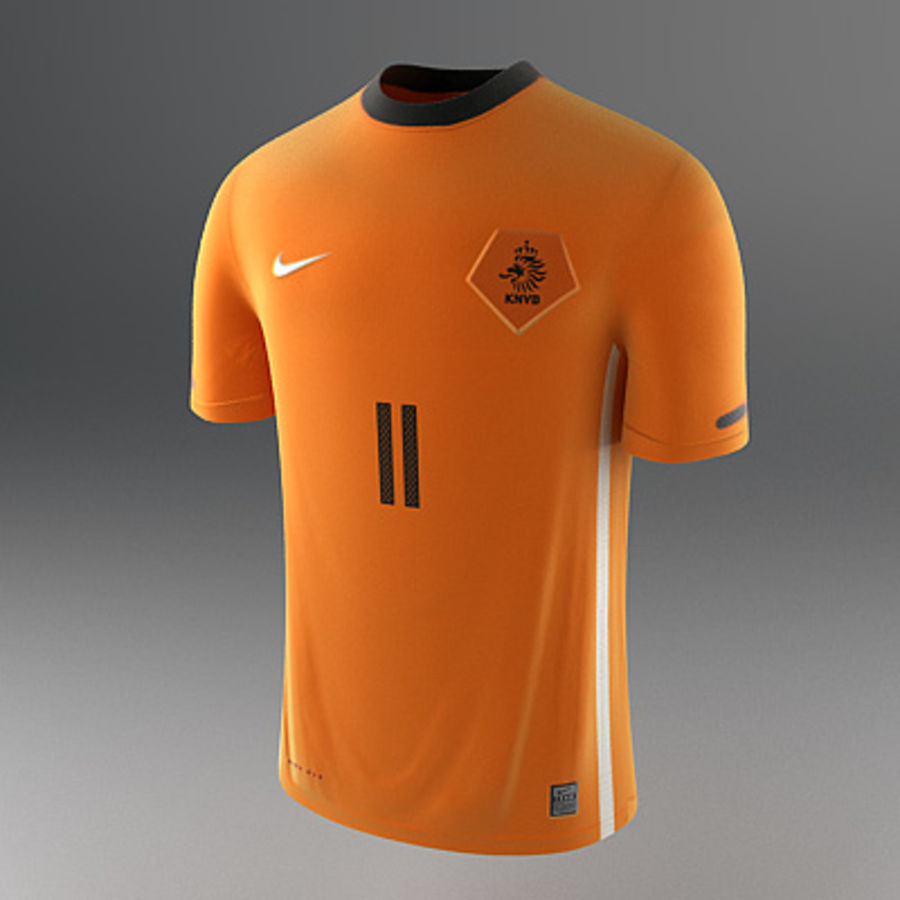 Nederland shirt - voetbaltrui royalty-free 3d model - Preview no. 1