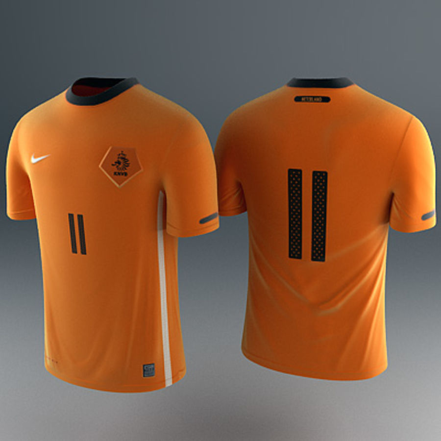 Nederland shirt - voetbaltrui royalty-free 3d model - Preview no. 2