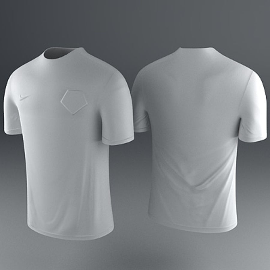 Nederland shirt - voetbaltrui royalty-free 3d model - Preview no. 4