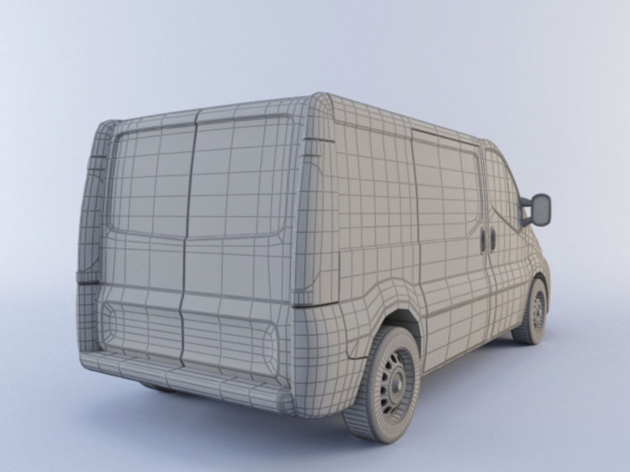 Renault Trafic royalty-free 3d model - Preview no. 5
