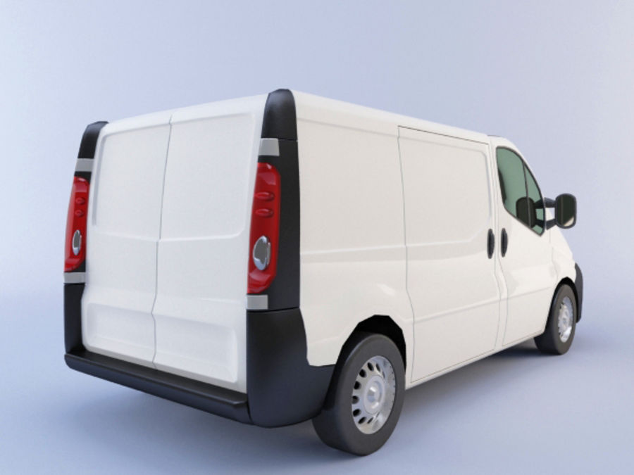 Renault Trafic royalty-free 3d model - Preview no. 2