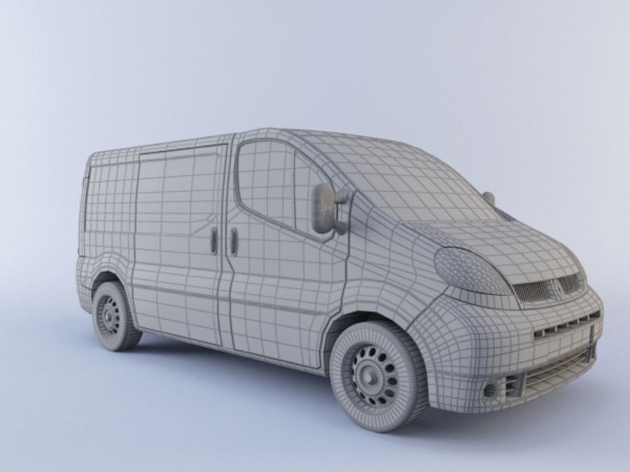 Renault Trafic royalty-free 3d model - Preview no. 4