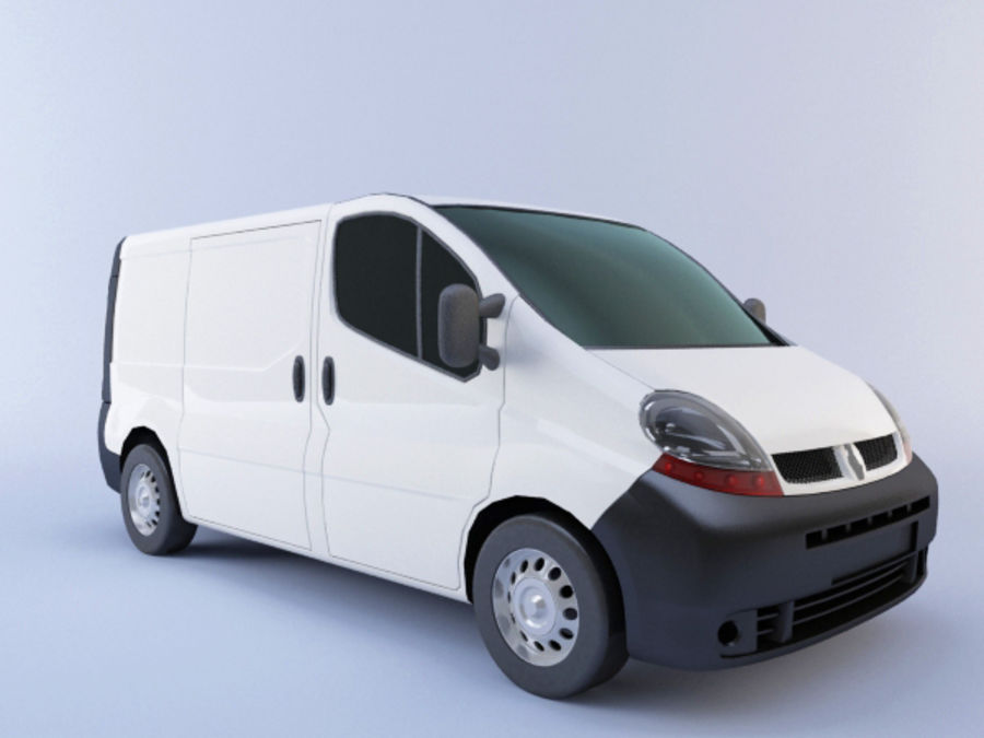 Renault Trafic royalty-free 3d model - Preview no. 1