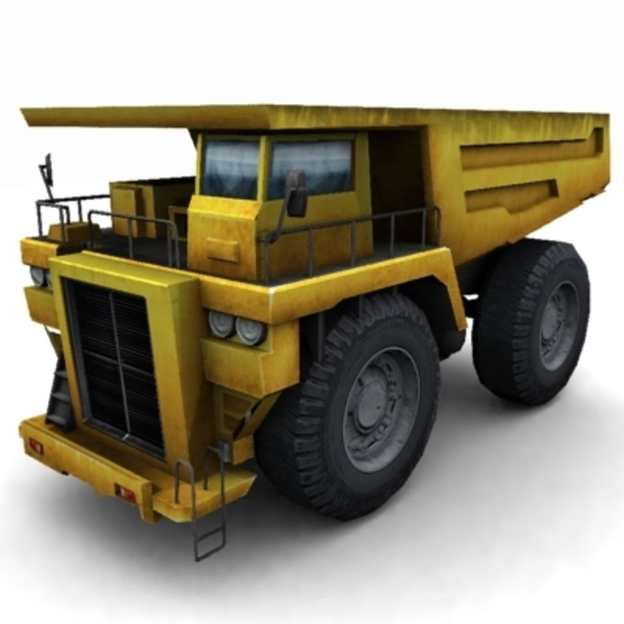 quarry truck royalty-free 3d model - Preview no. 2