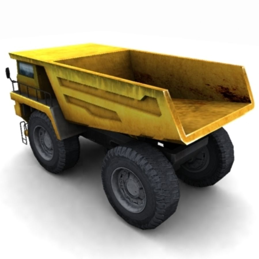 quarry truck royalty-free 3d model - Preview no. 3