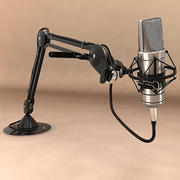 Microphone d'enregistrement 3d model