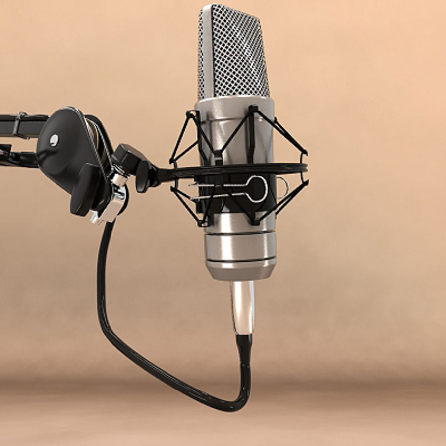 Recording Microphone 3d Model 45 Obj Fbx Max Free3d