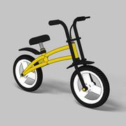 child bike toon 3d model