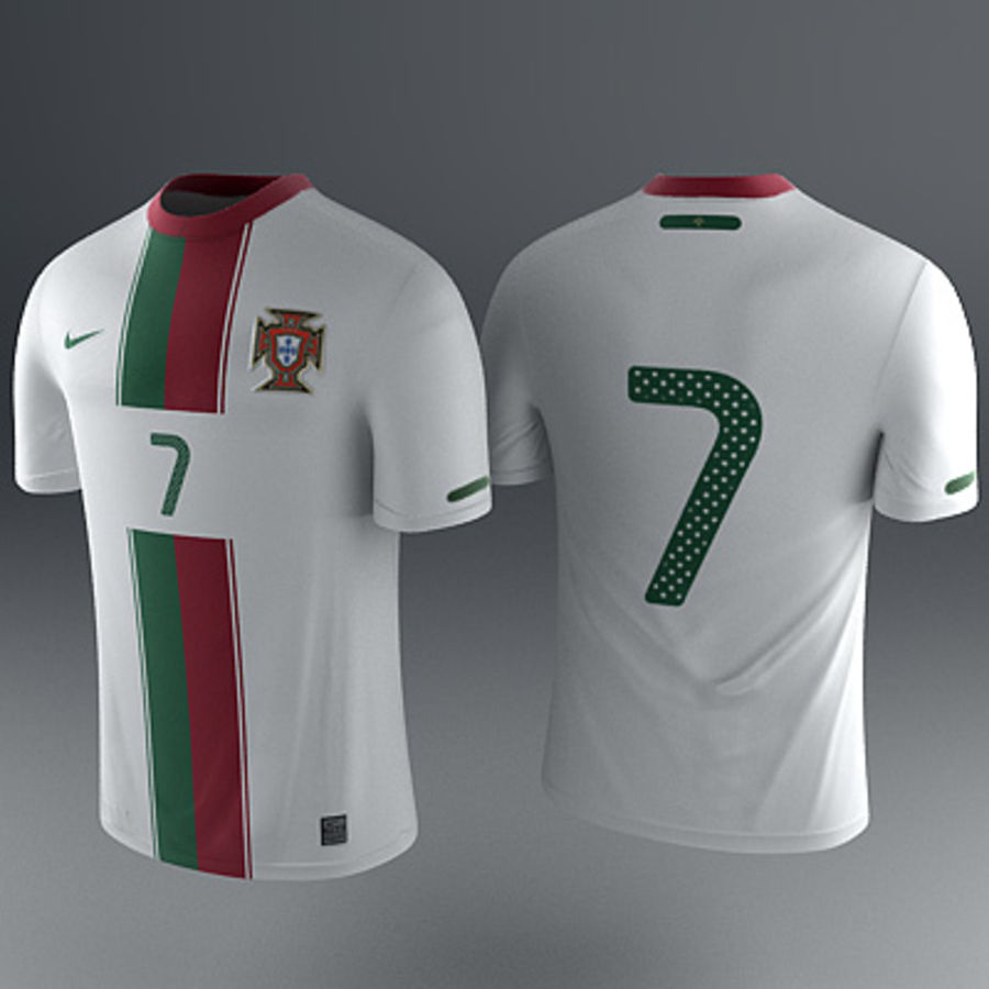 6217ab84f Portugal Shirt - Soccer Jersey 3D Model  29 - .obj .max .fbx .c4d ...