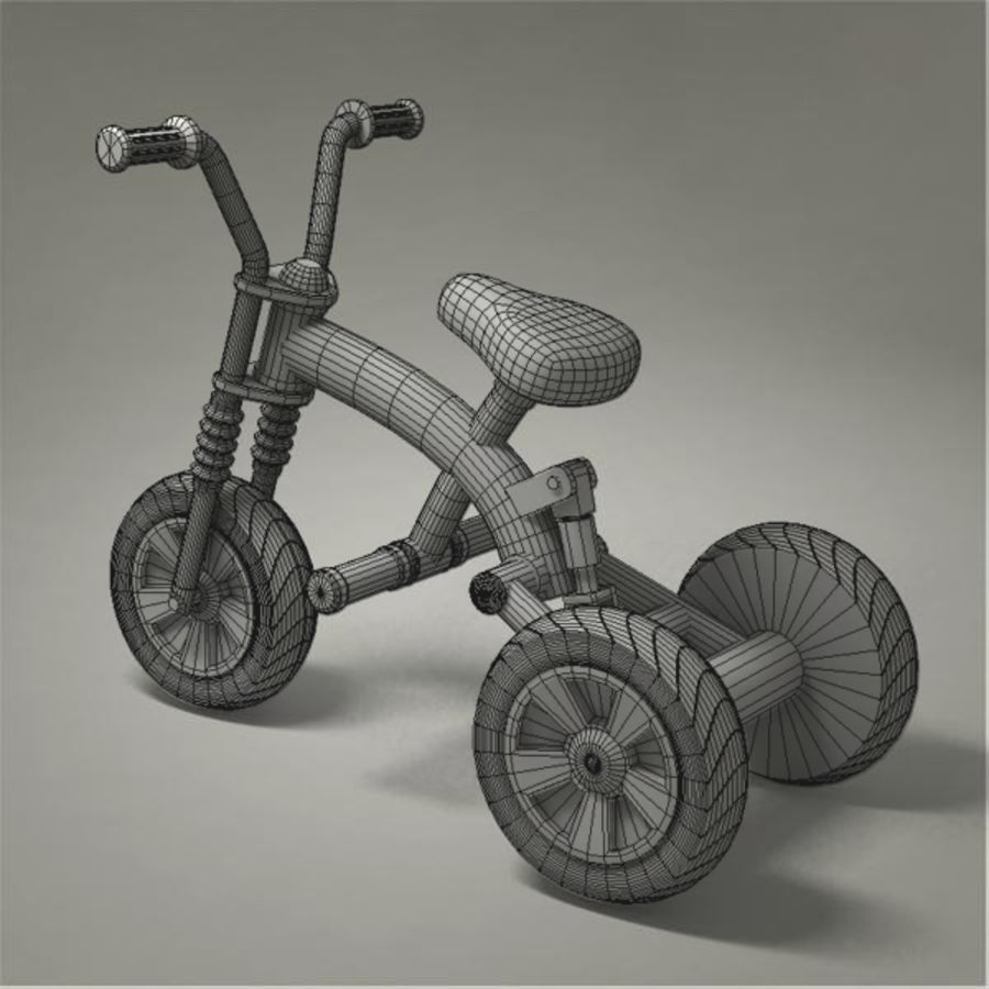 Tricycle royalty-free 3d model - Preview no. 10