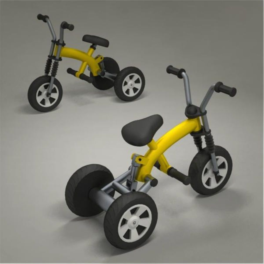 Tricycle royalty-free 3d model - Preview no. 7