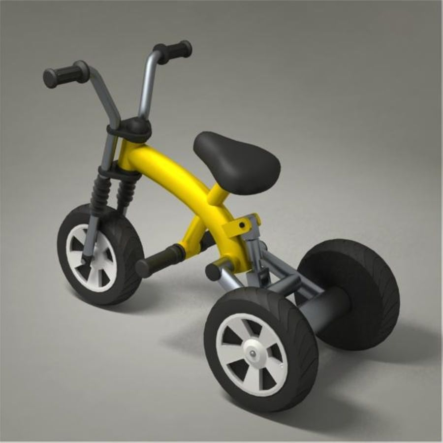 Tricycle royalty-free 3d model - Preview no. 3