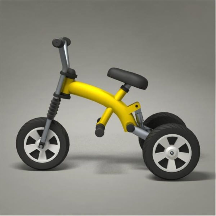 Tricycle royalty-free 3d model - Preview no. 2