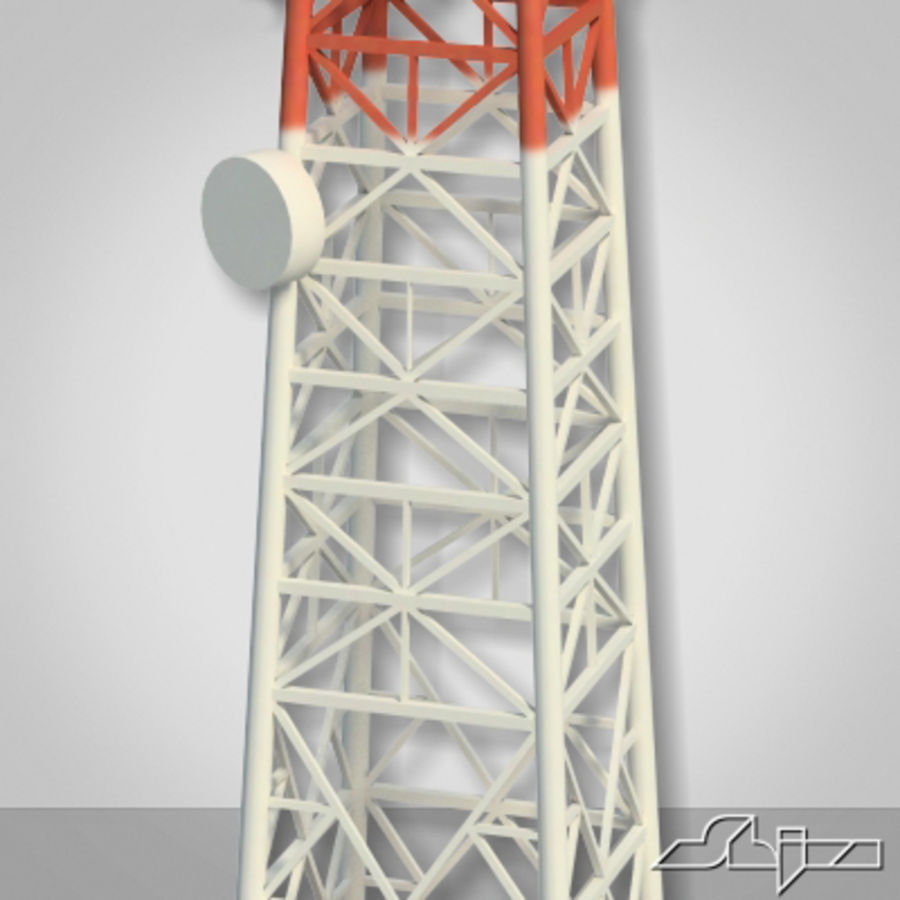 Antenne des Kommunikationsturms royalty-free 3d model - Preview no. 3