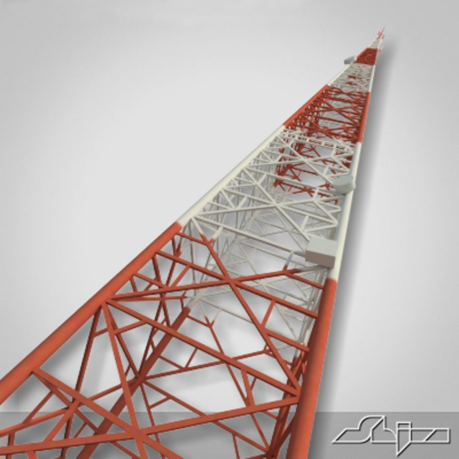 Antenne des Kommunikationsturms royalty-free 3d model - Preview no. 1