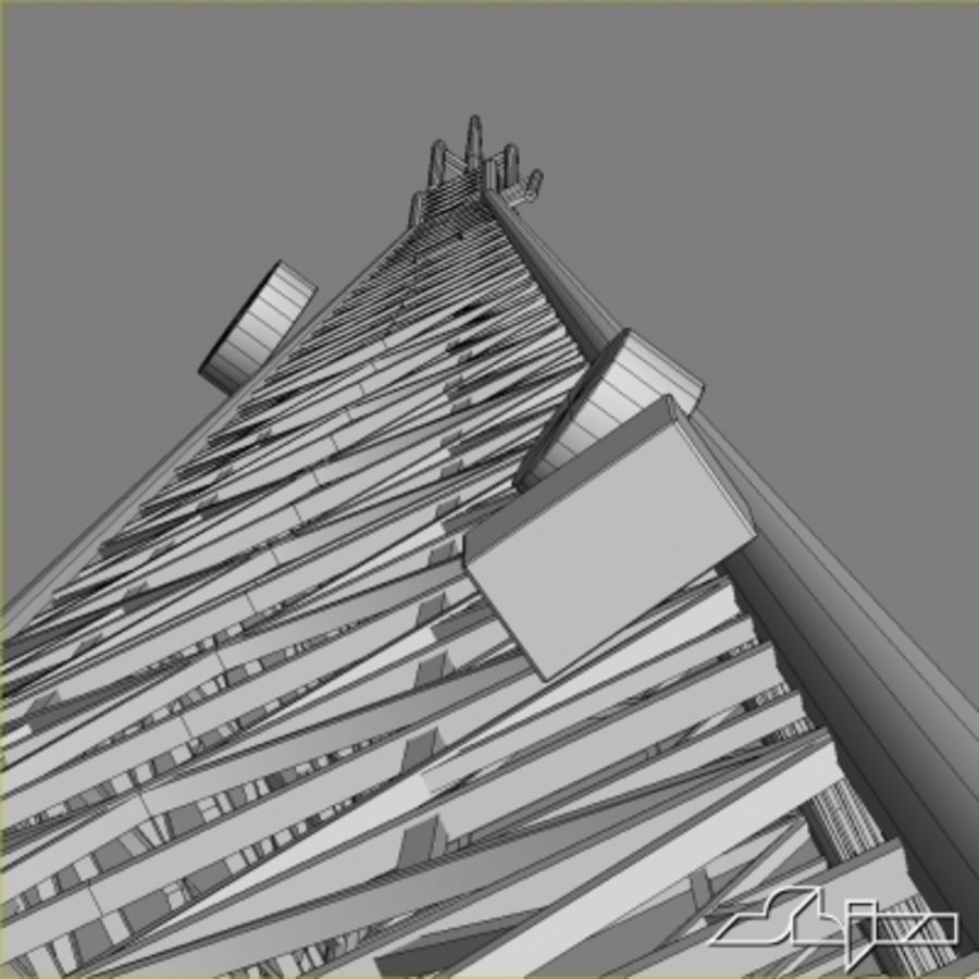 Antenne des Kommunikationsturms royalty-free 3d model - Preview no. 8