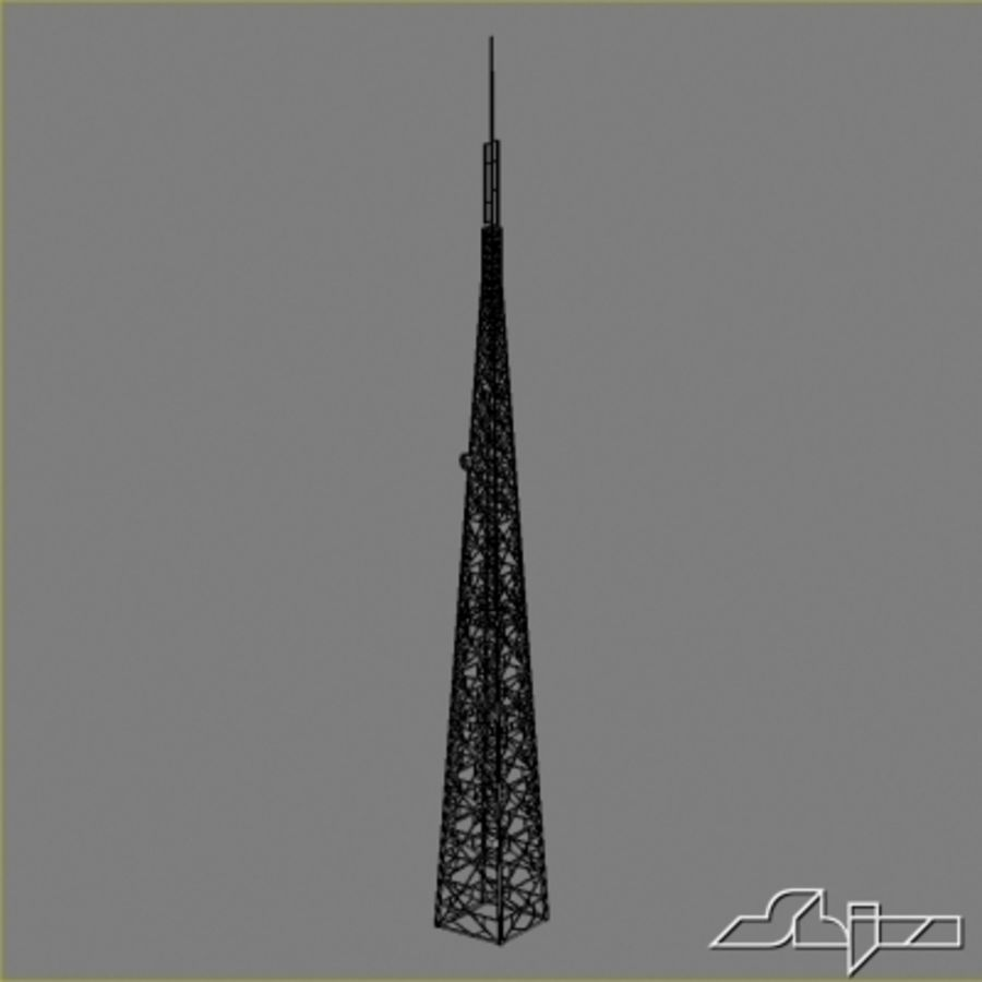 Antenne des Kommunikationsturms royalty-free 3d model - Preview no. 6