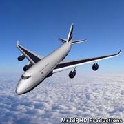 Low Poly Boeing 747-400 (In Flight) 3d model