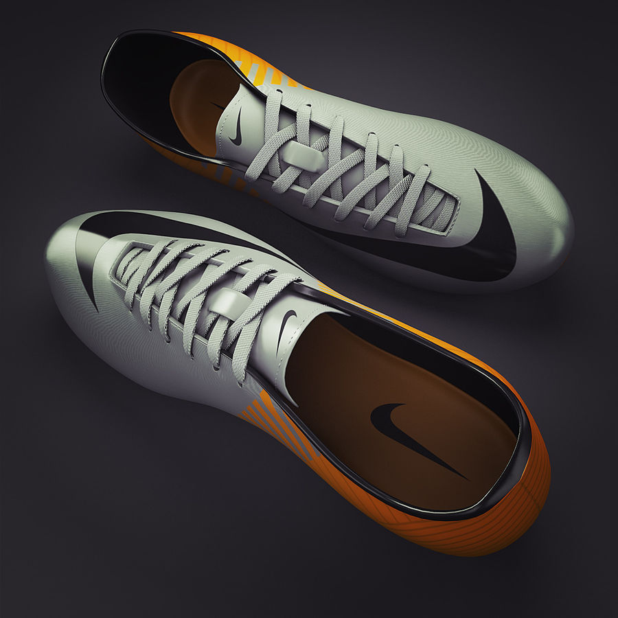 Soccer Shoes - Cleats royalty-free 3d model - Preview no. 3
