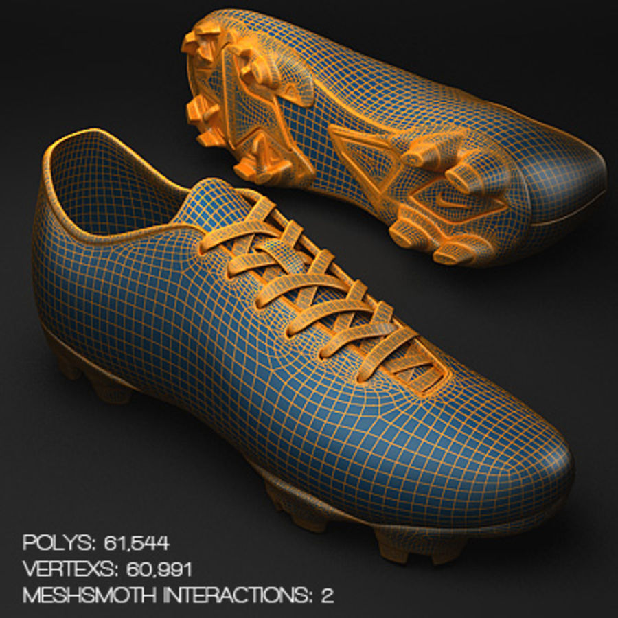Soccer Shoes - Cleats royalty-free 3d model - Preview no. 6
