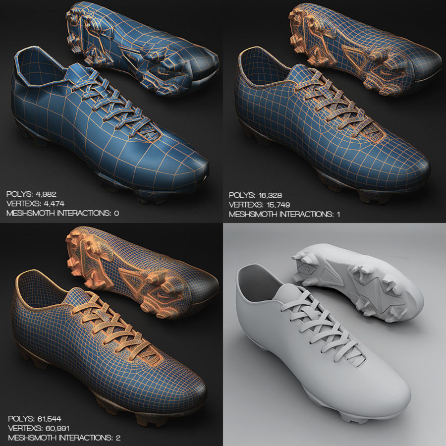 Soccer Shoes - Cleats royalty-free 3d model - Preview no. 7