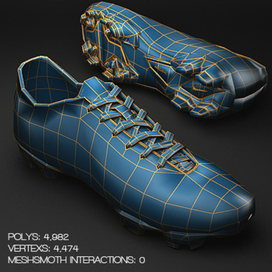 Soccer Shoes - Cleats royalty-free 3d model - Preview no. 4