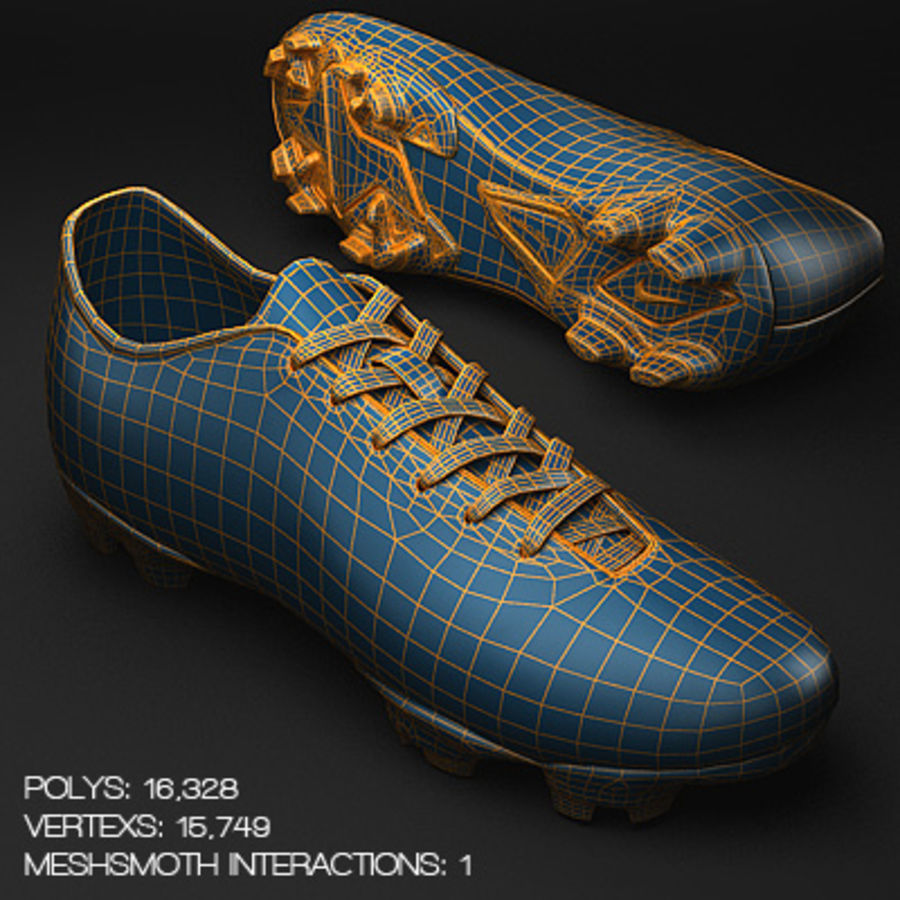 Soccer Shoes - Cleats royalty-free 3d model - Preview no. 5