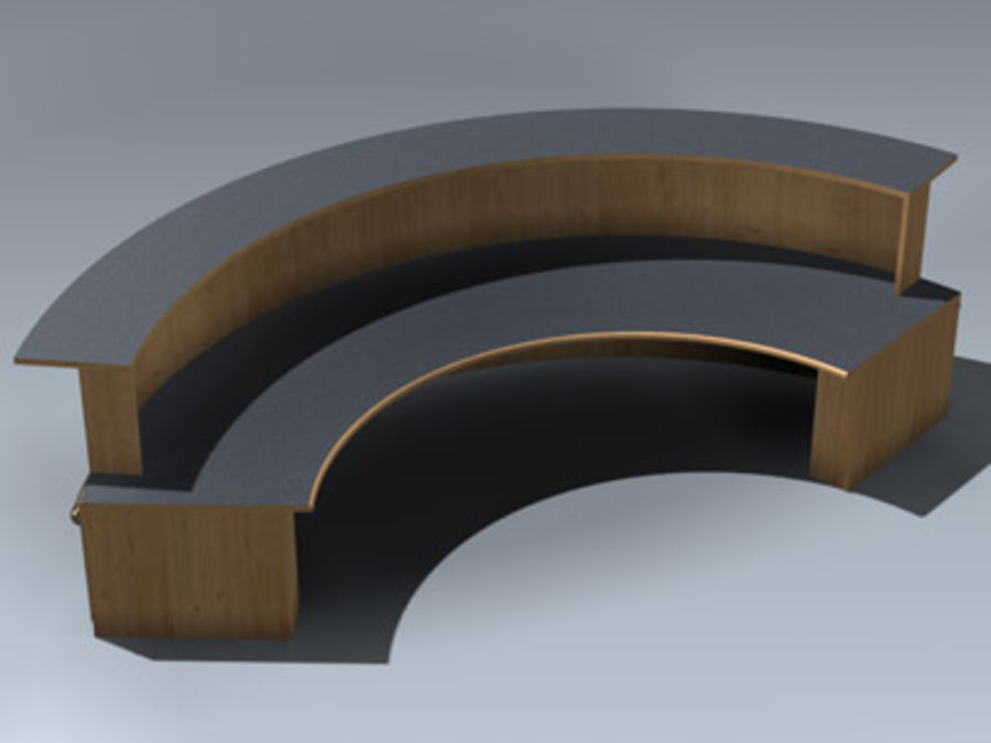 Desk (Reception) royalty-free 3d model - Preview no. 3