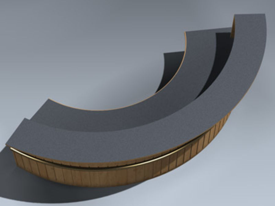 Desk (Reception) royalty-free 3d model - Preview no. 5