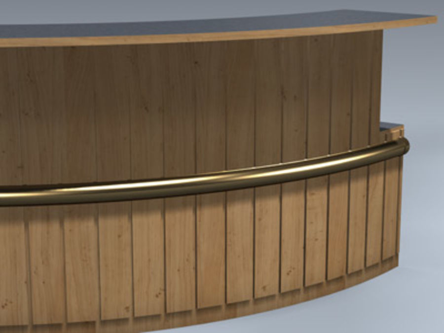 Desk (Reception) royalty-free 3d model - Preview no. 6