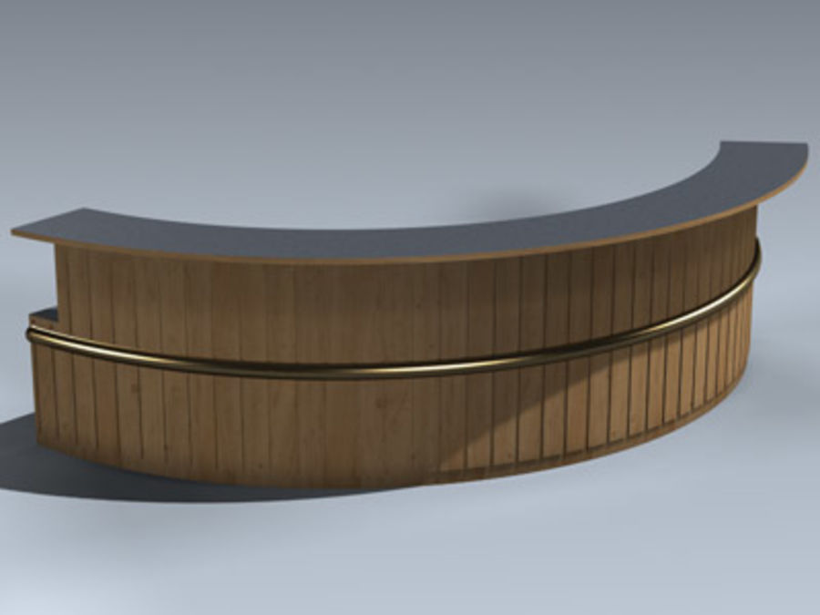 Desk (Reception) royalty-free 3d model - Preview no. 1