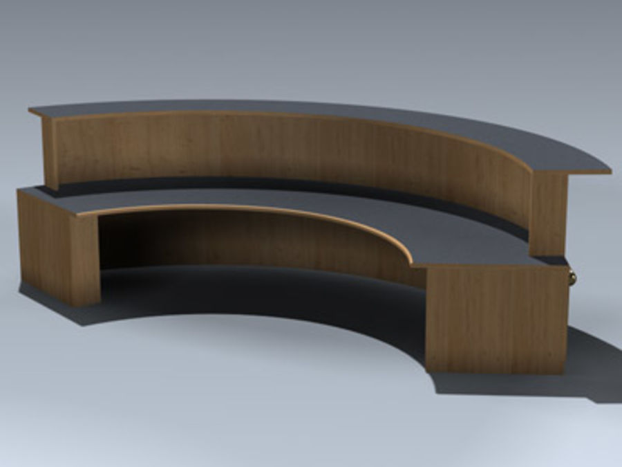 Desk (Reception) royalty-free 3d model - Preview no. 4