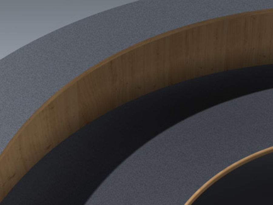 Desk (Reception) royalty-free 3d model - Preview no. 7
