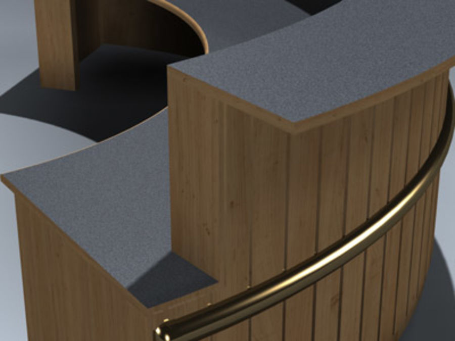 Desk (Reception) royalty-free 3d model - Preview no. 8
