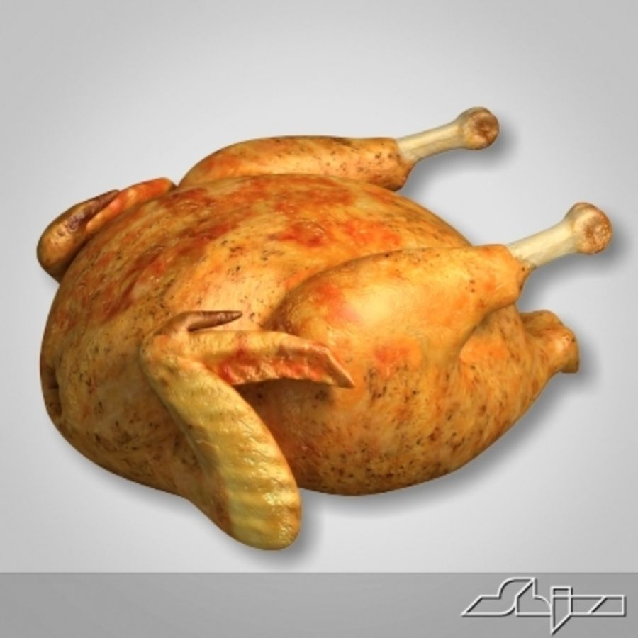 Roast Chicken royalty-free 3d model - Preview no. 1
