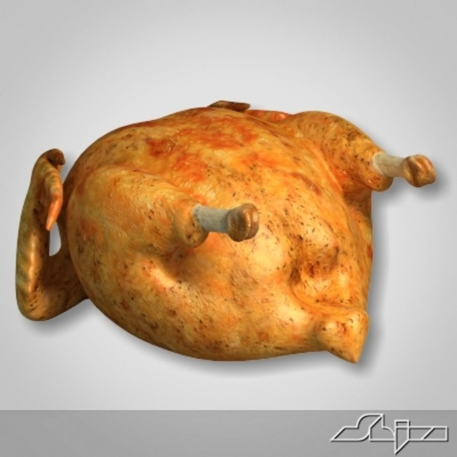 Roast Chicken royalty-free 3d model - Preview no. 2