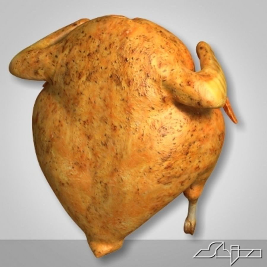 Roast Chicken royalty-free 3d model - Preview no. 4