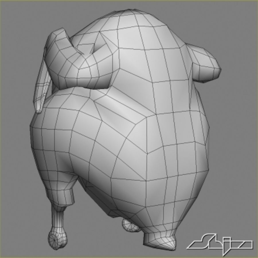 Roast Chicken royalty-free 3d model - Preview no. 7