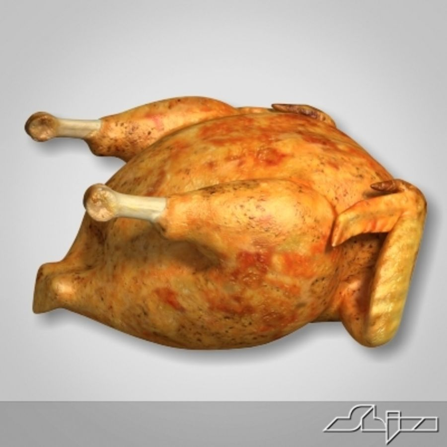Roast Chicken royalty-free 3d model - Preview no. 3