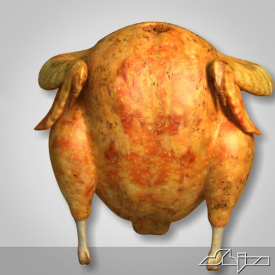 Roast Chicken royalty-free 3d model - Preview no. 5