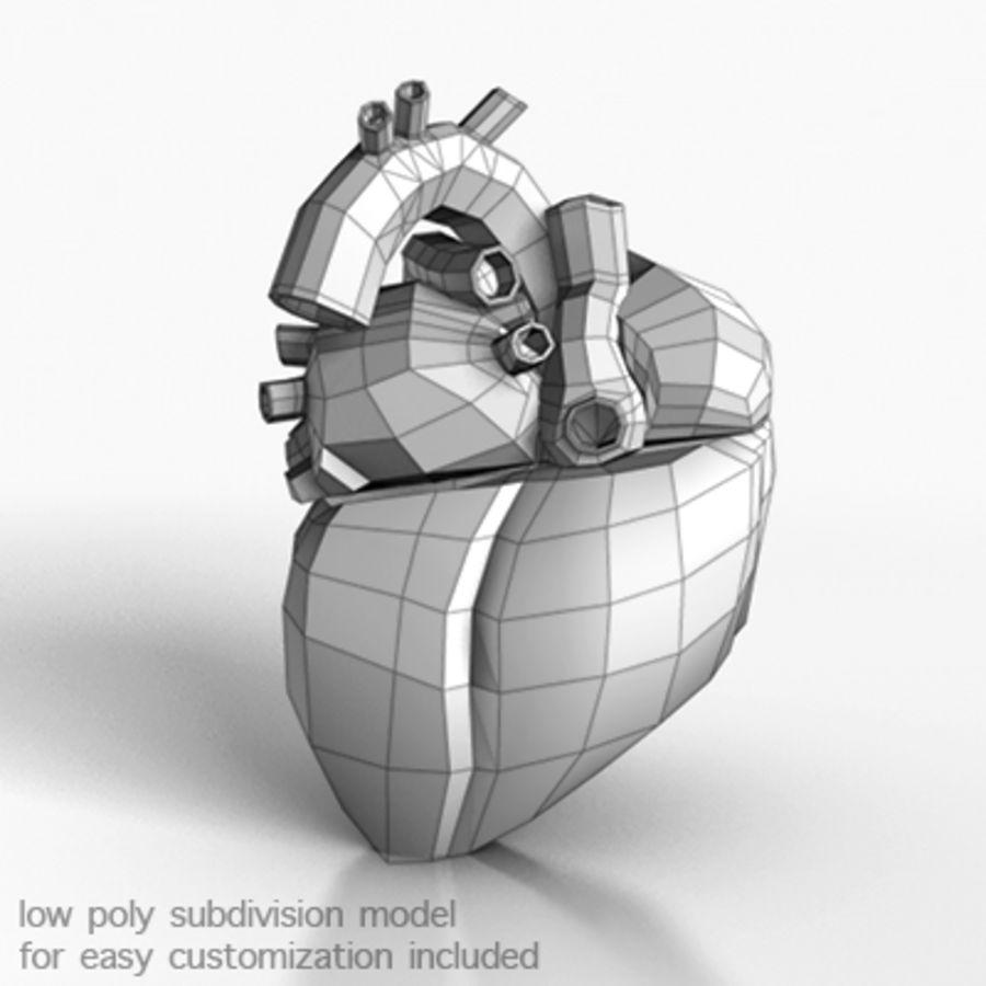 mänskligt hjärta royalty-free 3d model - Preview no. 4