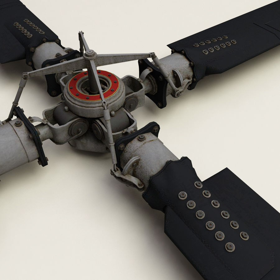 Helicopter Propeller V2 royalty-free 3d model - Preview no. 4