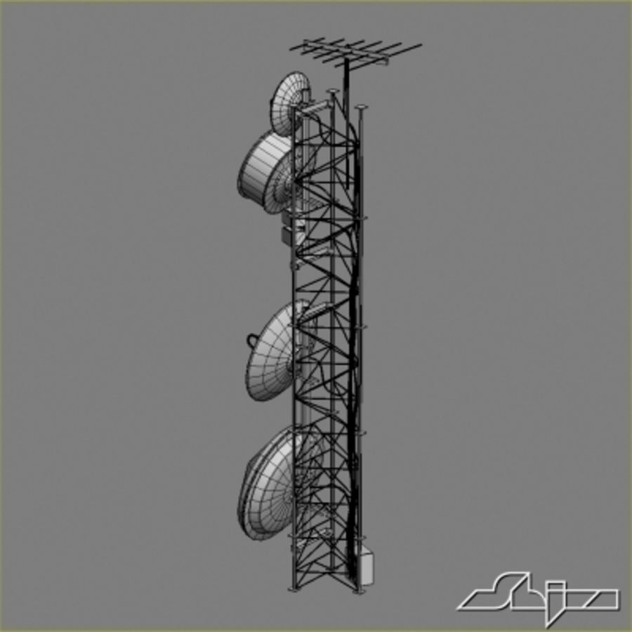 Antenna Tower 2 royalty-free 3d model - Preview no. 8