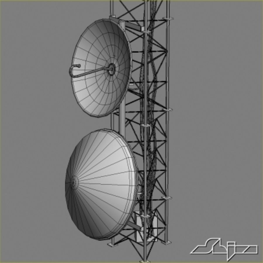 Antenna Tower 2 royalty-free 3d model - Preview no. 10