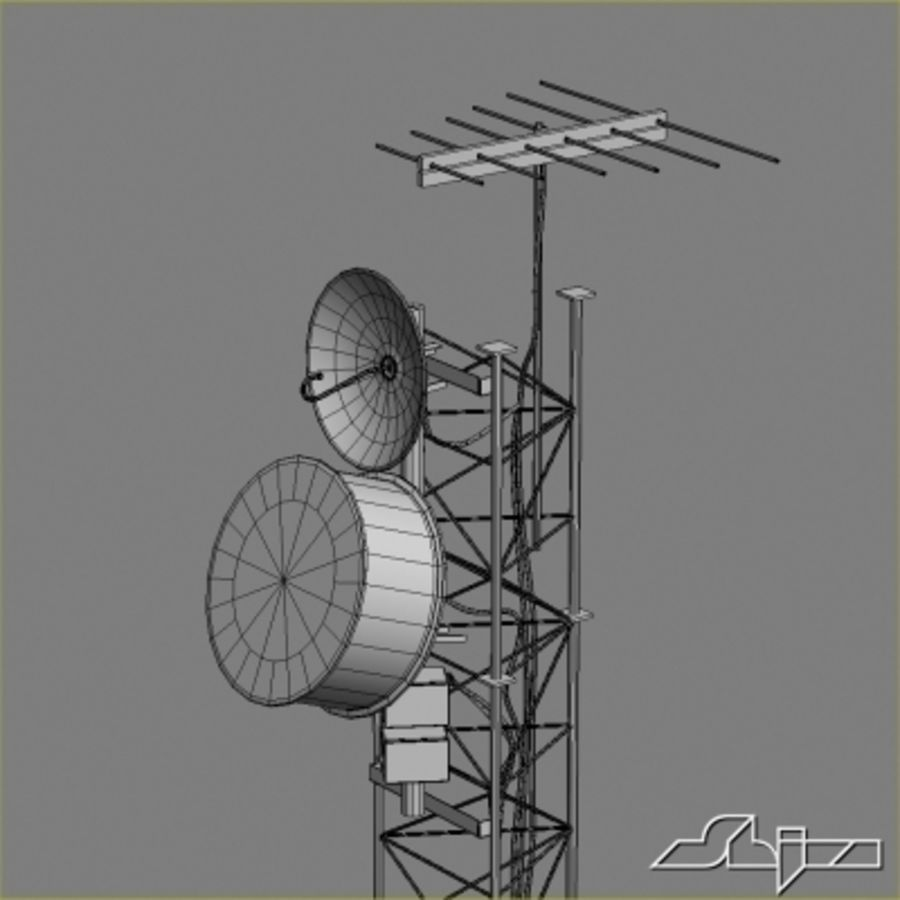 Antenna Tower 2 royalty-free 3d model - Preview no. 9